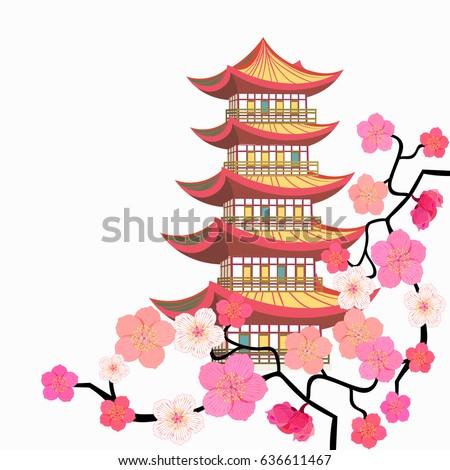 corner sakura cherry chinese