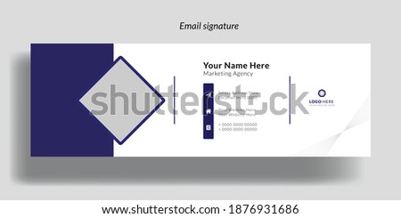 Corporate Email Signature Design.Email signature template design. business email signature vector banner
