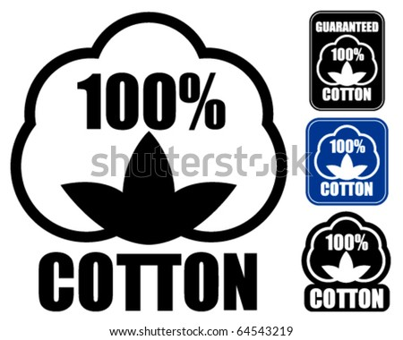 100% Cotton Icon. in three styles.