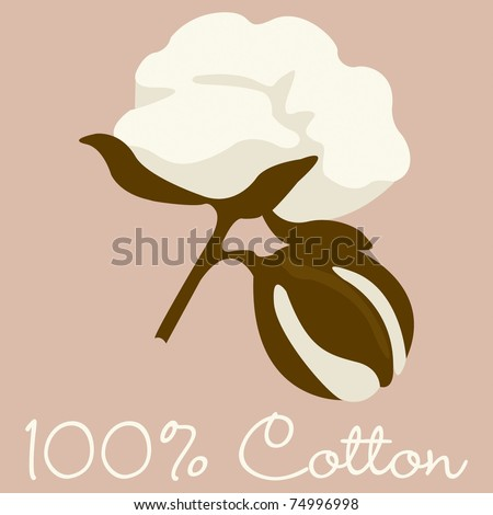 100% Cotton sign in vector format.