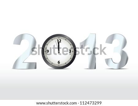 2013 countdown. Vector illustration