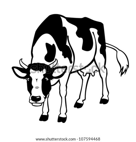 Vector Images Illustrations And Cliparts Cow Black And White