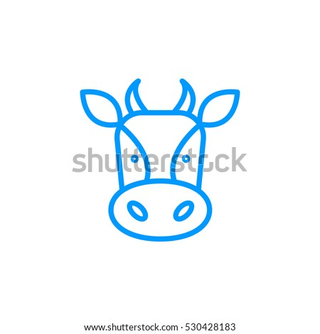 Cow icon Flat.