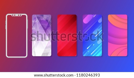 Creative geometric wallpaper mobile. Cool gradients. Future geometric template.Can use for business data report,telephone, presentation, web page, brochure, leaflet, flyer, poster and advertising.