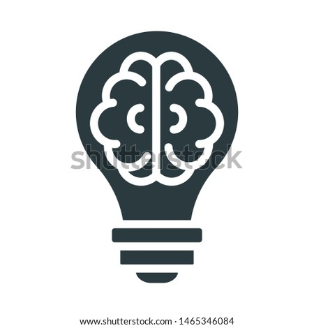 Creative process, creative thinking vector icon which can easily modify or edit
