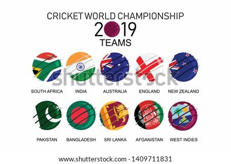 Cricket world championship 2019 - Teams