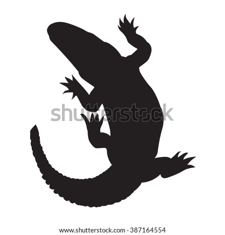 crocodile silhouette  vector isolated