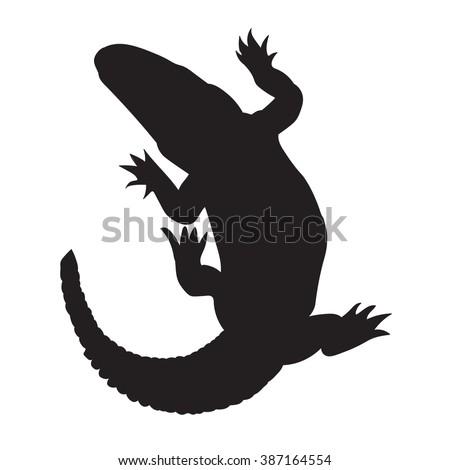 crocodile silhouette  vector...