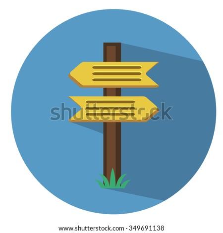 crossroad  direction - flat icon #349691138