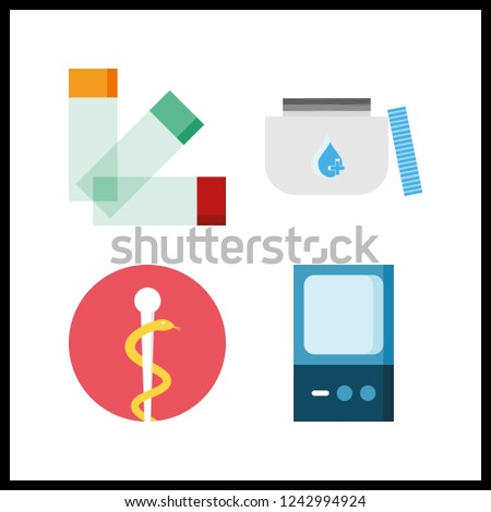 4 cure icon. Vector illustration cure set. medicine and pharmacy icons for cure works