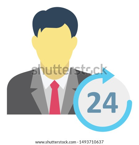 Customer care, customer representative Isolated Vector Icon which can easily modify or edit