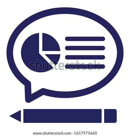 Customer report, customer survey Vector Icon which can easily modify