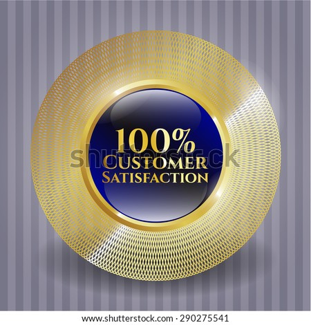 100% Customer Satisfaction shiny badge