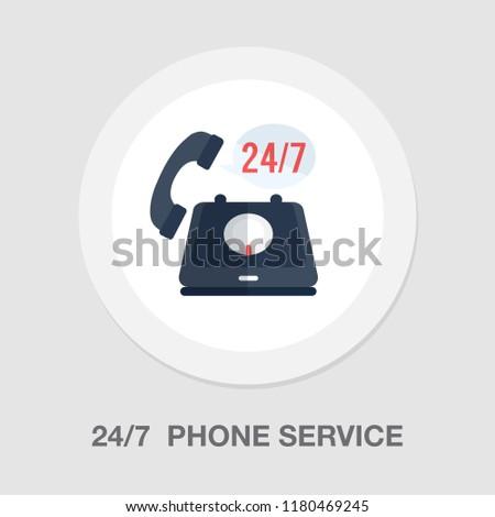 24/7 customer service icon - customer support icon - call center icon