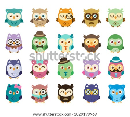 stock-vector--cute-and-sweet-owls-simple-to-edit-mix-the-elements-create-your-personal-owl-is-simple-well