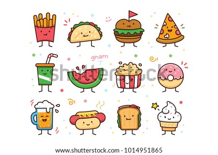 12 cute and sweet vector