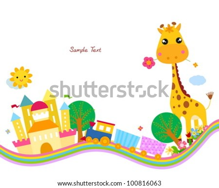 cute background,giraffe