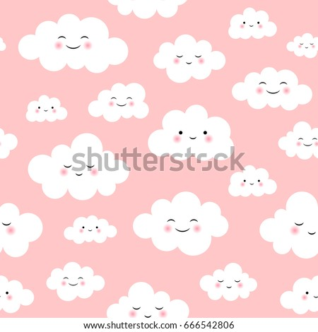 cute cloud seamless pattern