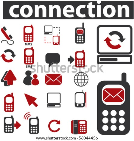 20 cute connection signs. vector - stock vector