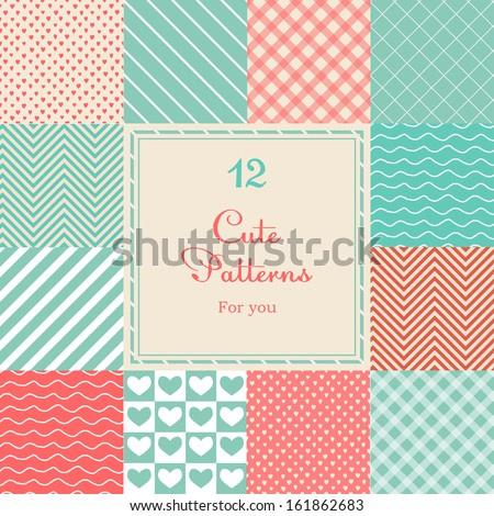12 cute different vector