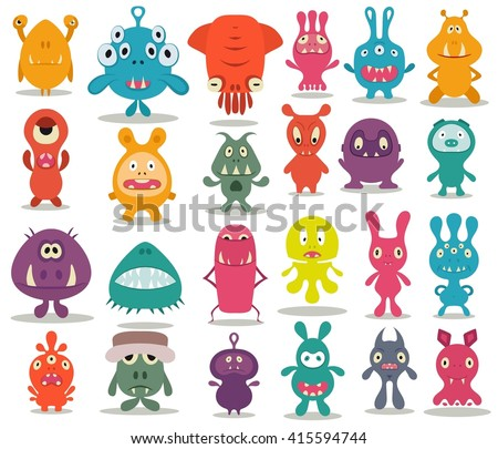 24 cute doodle monsters