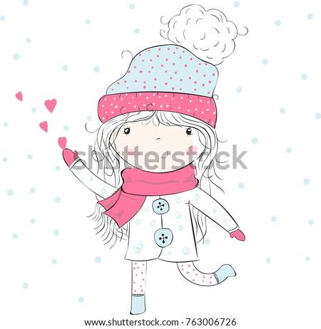 .cute girl/girl vector/girl illustration/romantic girl/cute girl/T-shirt print/princess girl/girl sticker/pretty girl/little girl/girl print/girl pattern/beautiful girl/cartoon girl/ballerina girl