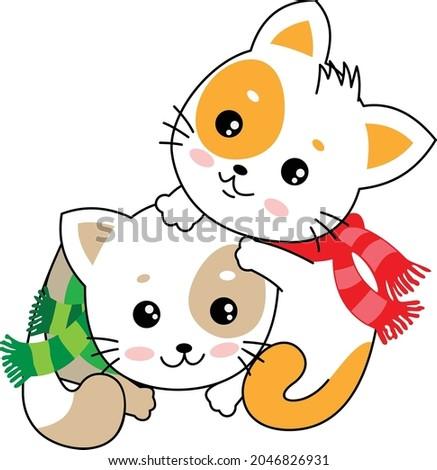 2 cute pretty beautiful kittens