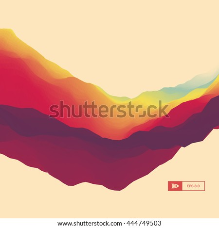 3d abstract background dynamic