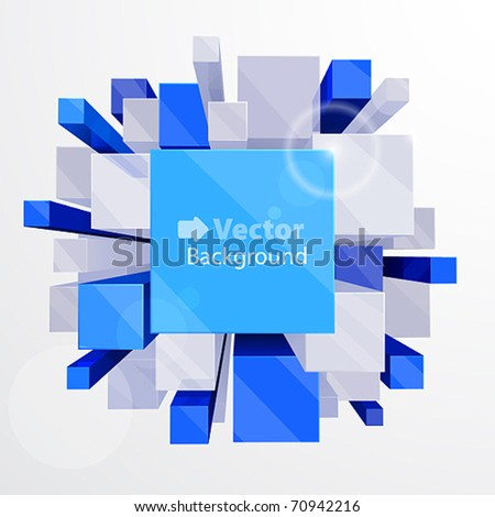 3d abstract background - vector illustration with place for text