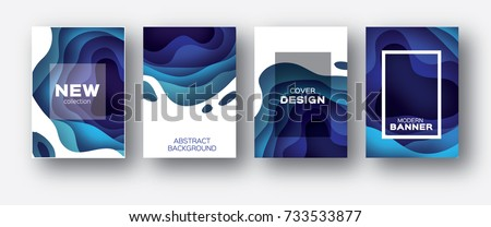 stock-vector--d-abstract-background-with-paper-cut-shapes-layered-tunnel-wave-background-shadows-box-vector