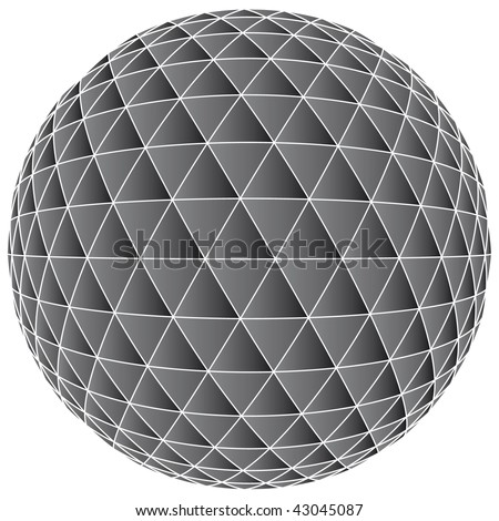 3D abstract ball background - vector illustration