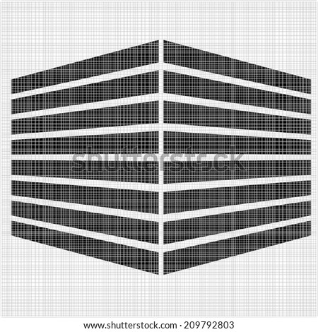 3d abstract cube logo office building in perspective cube technology abstract logo template abstract 3d office building