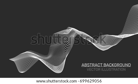 3d abstract digital wave of