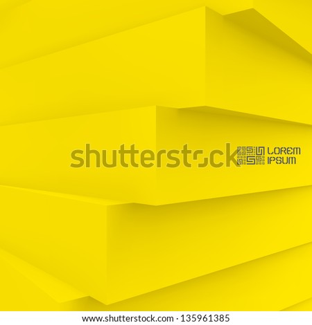 3D abstract illustration. Vector background.