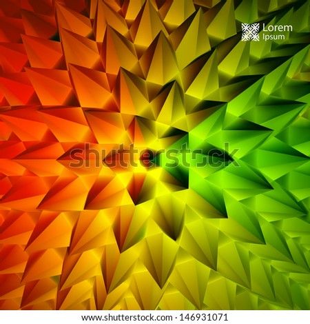 3D abstract illustration. Vector template.