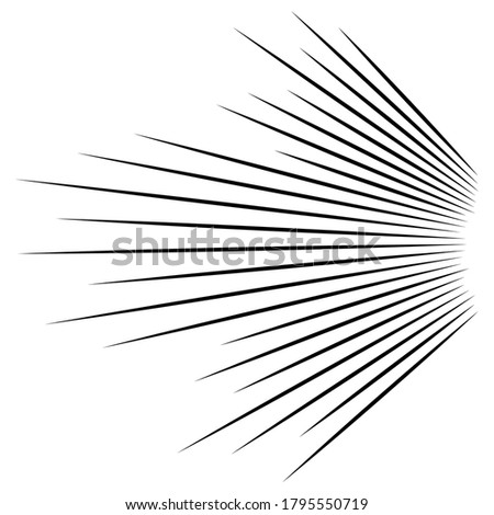 3D Abstract lines. Dynamic straight burst lines in perspective. Radial, radiating stripes. Rapid rays, beams in motion Сток-фото ©