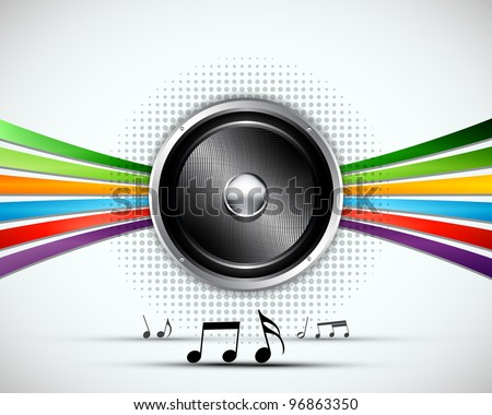 3D Abstract music vector background design