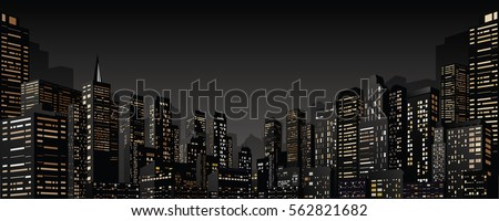3d abstract night city modern