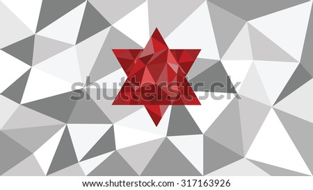 3d abstract shining ice vector