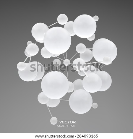 3d abstract spheres composition