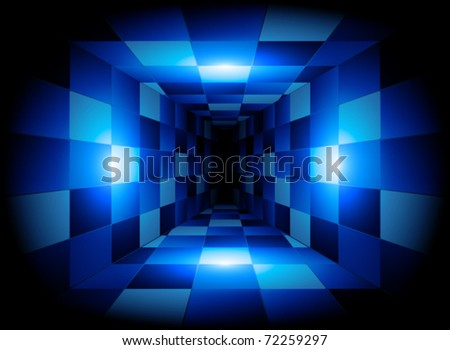 3D abstract tunnel
