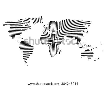 3d abstract world map planet