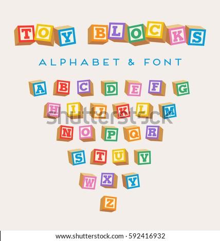 3d alphabet blocks  toy baby