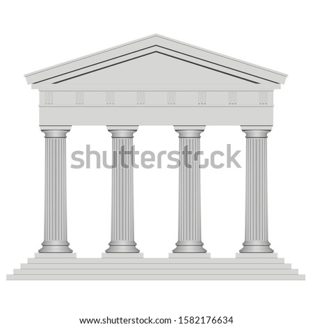 3d ancient temple with four