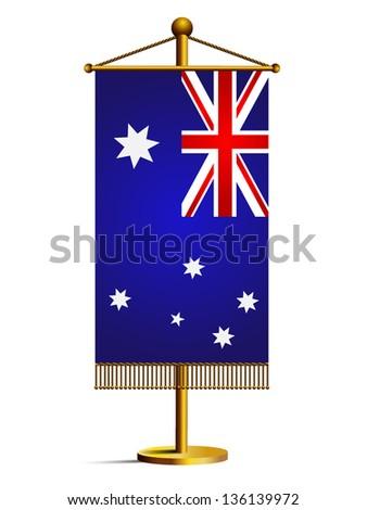 3d australia table flag