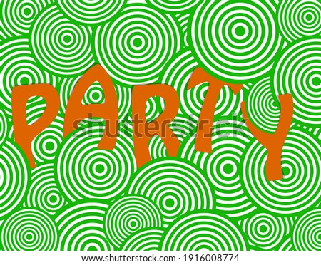 3d background in green and orange colors. Advertisement banner to Saint Patrick's day. Invitation to party Foto stock ©