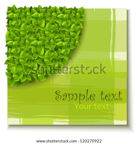 3d background of green leaves