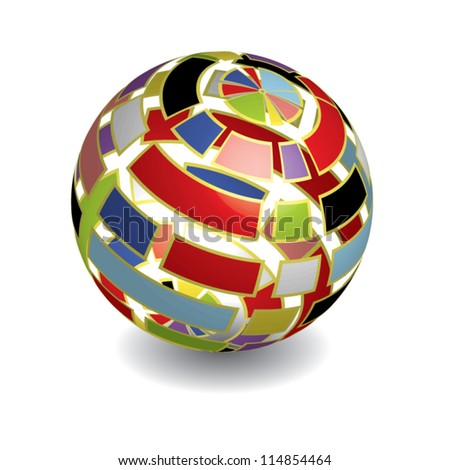 3D ball with shadow