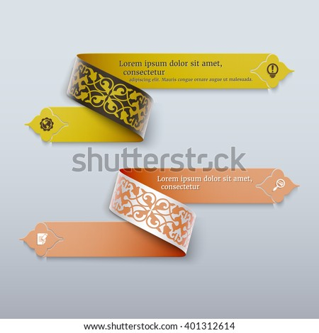 3d banners with  colorful
