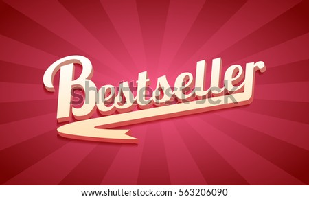 3D best seller text, on a red retro background.